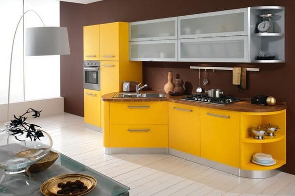 Küche Wandfarbe Braun