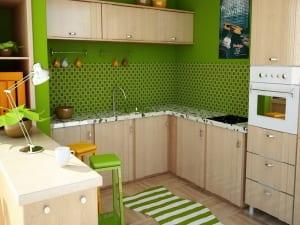 küche wandfarbe -grüne wandfarbe