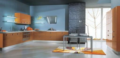 Küche Hellblau küche wandfarbe hellblau freshouse