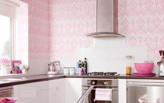 küche wandfarbe hellrosa