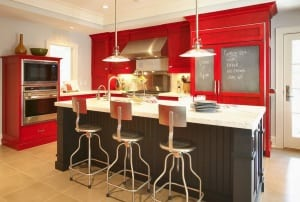 küche wandfarbe -küche rot