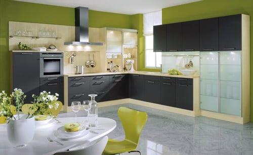 küche wandfarbe- pastelgrün
