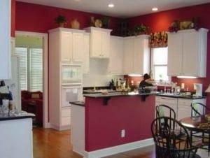 küche wandfarbe rot