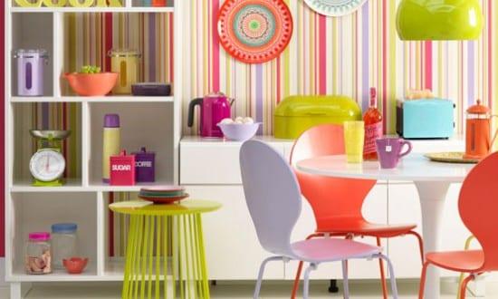 küche wandfarbe – wandmuster idee
