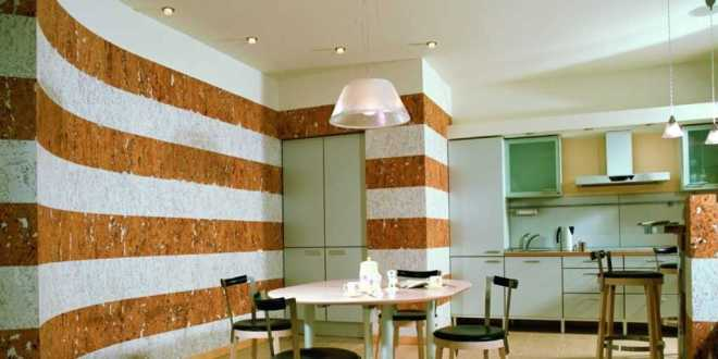 Küche Wandfarbe Wandmuster Raie
