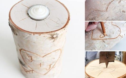 Kerzenhalter basteln aus birkenholz freshouse - Kerzenhalter basteln ...