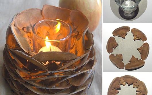 Kerzenhalter basteln aus zapfenkernen freshouse - Kerzenhalter basteln ...
