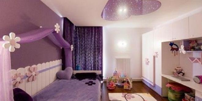 kinderzimmer streichen- lila wand - fresHouse