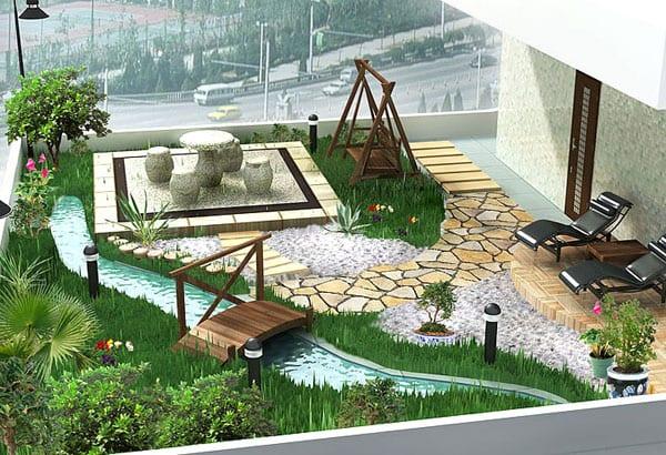 Ganz und zu Extrem kleiner Garten in der Stadt-garten auf die terrasse - fresHouse &LF_06