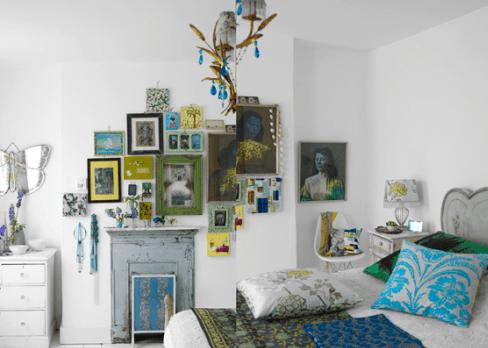 kreative ideen wandgestaltung-bilderrahmen dekorieren - fresHouse