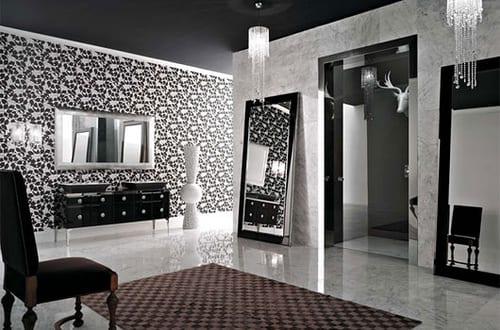 Luxus badezimmer schwarz  luxus badezimmer schwarz weiß mit marmorboden - fresHouse