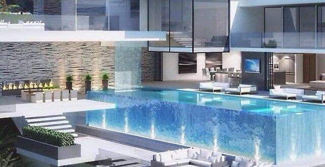 Luxus haus mit garage unter pool freshouse for Luxus innenausstattung haus