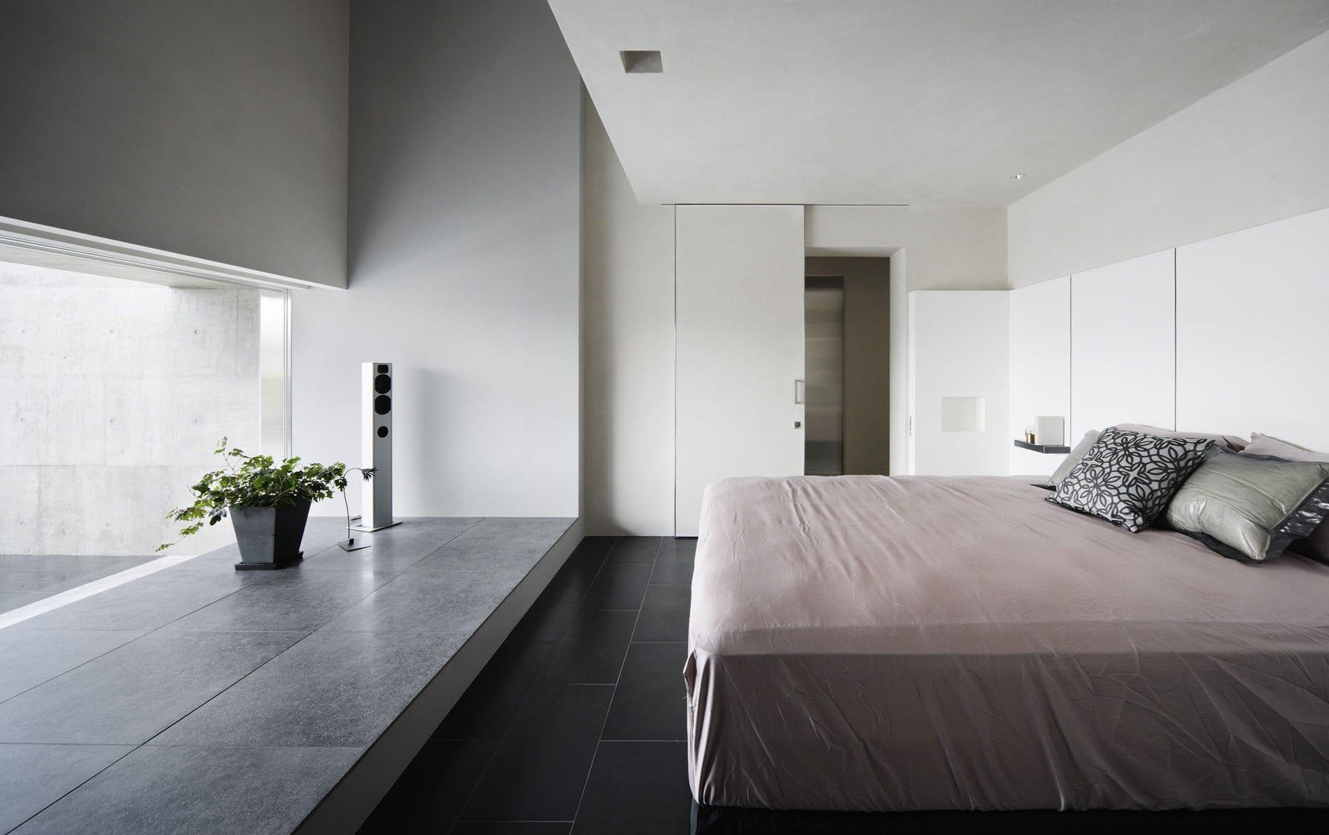 Luxus Schlafzimmer Design Mit Schiebetür Weiß