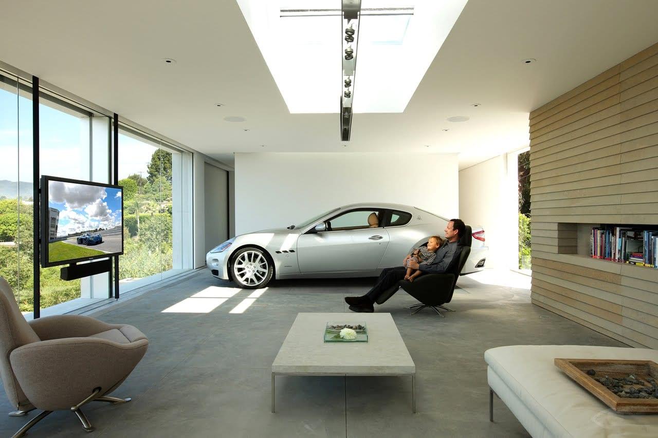 Moderne luxus wohnzimmer  luxus wohnzimmer mit garage - fresHouse