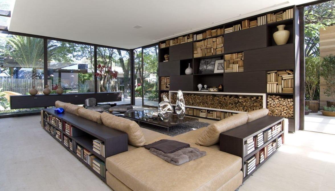 luxus wohnzimmer-wohnzimmer braun - freshouse - Bilder Wohnzimmer Braun