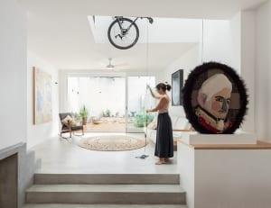 mein wohnzimmer-fahrrad aufbewahrung idee