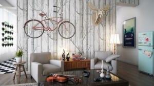 mein wohnzimmer - fahrrad im wohnzimmer