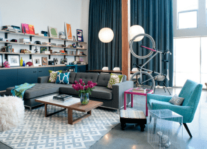 mein wohnzimmer - fahrrad im wohnzimmer aufhängen von  Daleet Spector Design