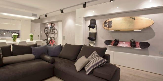 Fahrrad Aufbewahrung im Wohnzimmer