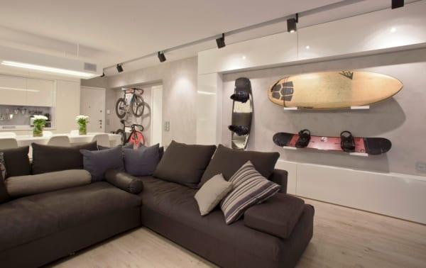 Mein Wohnzimmer Idee Fur Aufbewahrung An Der Wand Freshouse