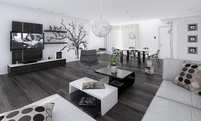 moderners wohnzimmer-idee für wohn esszimmer - fresHouse