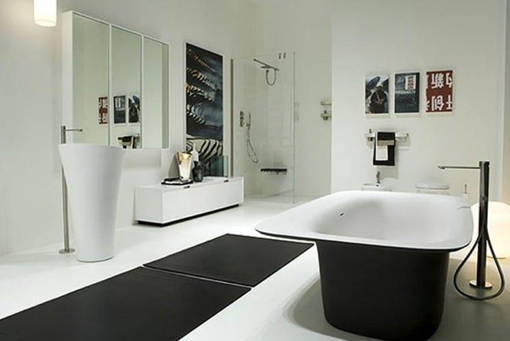 Modernes Badezimmer Schwarz Weiß  Antonio Lupi