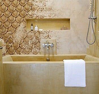Modernes Badezimmer Wandgestaltung Mustertapete Zar Jpg Freshouse