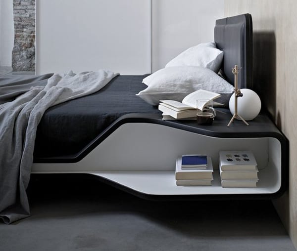 modernes bett mit nachttisch - fresHouse