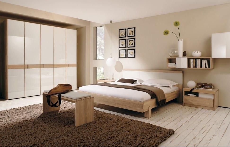 Schon Modernes Schlafzimmer Beige Wandfarbe
