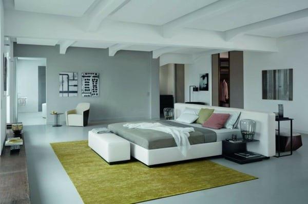 Modernes schlafzimmer grau  modernes schlafzimmer grau mit teppich grün - fresHouse