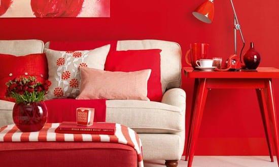 Wohnzimmer Rot – die moderne Wohnzimmer Farbe