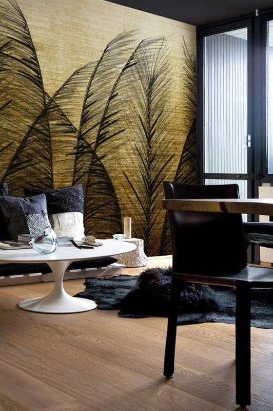 mustertapete golden wind f r stylische wohnzimmer freshouse. Black Bedroom Furniture Sets. Home Design Ideas