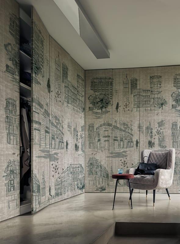 mustertapete Times-luxus schlafzimmer wandgestaltung - fresHouse