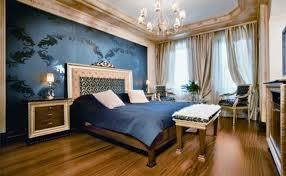 Fesselnd Schlafzimmer Blau Gold AuBergewohnlich Schlafzimmer Blau Gold  Farblich Gestalten Blaue Wand Einfach Vorhange Ideen Gema 1 4 Tlich Tli  Schlafzimmer ...