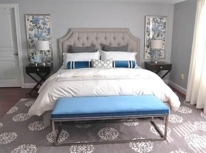 Schlafzimmer dekorieren in grau und blau freshouse for Schlafzimmer dekorieren