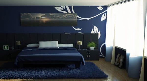 schlafzimmer dunkelblau - fresHouse