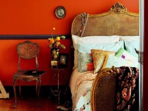 schlafzimmer eandfarbe-modernes schlafzimmer