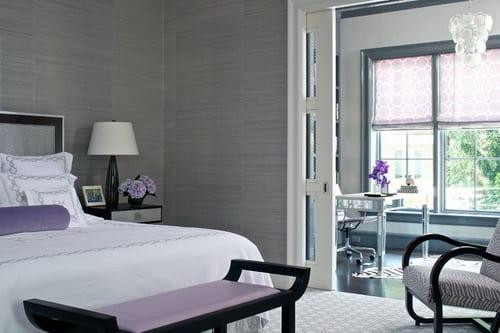 Schlafzimmer Grau Mit Lila Akzenten