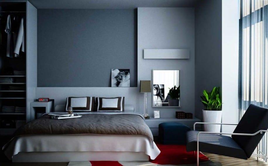 Schlafzimmer Grau Mit Teppich Rot