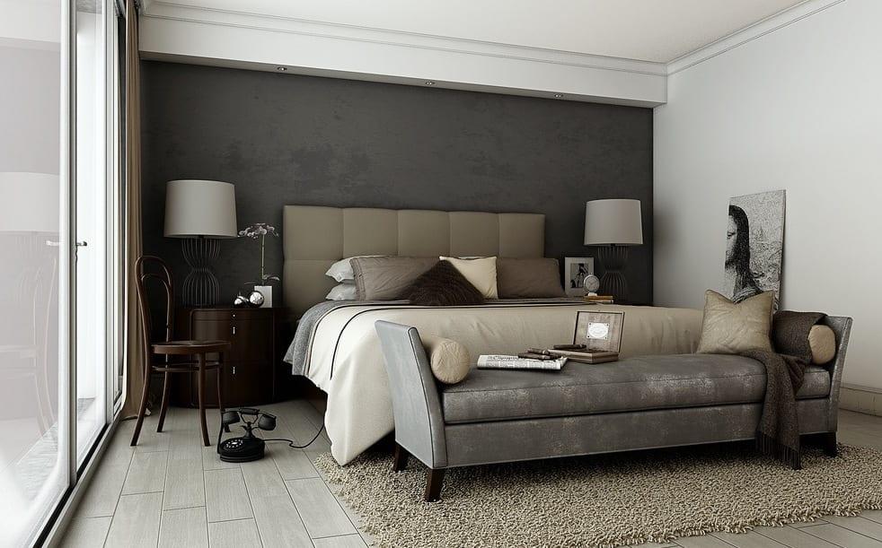 Schlafzimmer grau mit wandfarbe graut ne freshouse - Wandfarbe grau ...