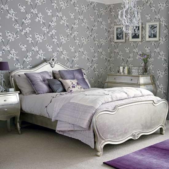 AuBergewohnlich Schlafzimmer Grau Tapete Grau
