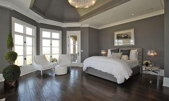 Schlafzimmer Grau | Schlafzimmer Grau Wandfarbe Grau Freshouse