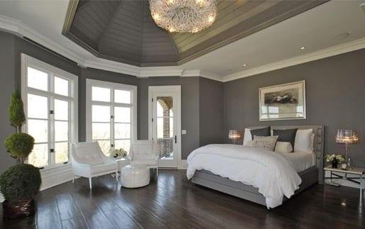 Graue Wandfarbe schlafzimmer grau design