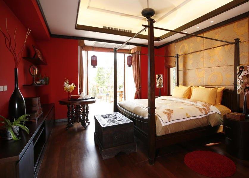 schlafzimmer inspiration-schlafzimmer rot - fresHouse