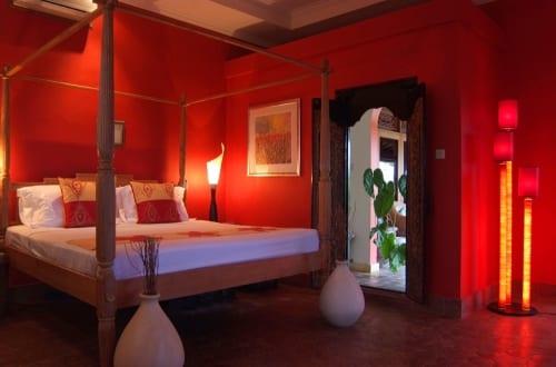 schlafzimmer rot dekorieren   fresHouse