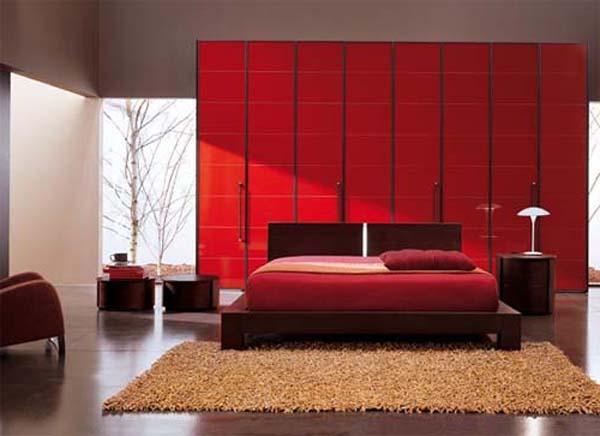 schlafzimmer rot kleiderschrank rot freshouse. Black Bedroom Furniture Sets. Home Design Ideas
