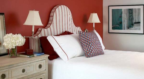 Schlafzimmer Rot Mit Rote Wandfarbe Freshouse