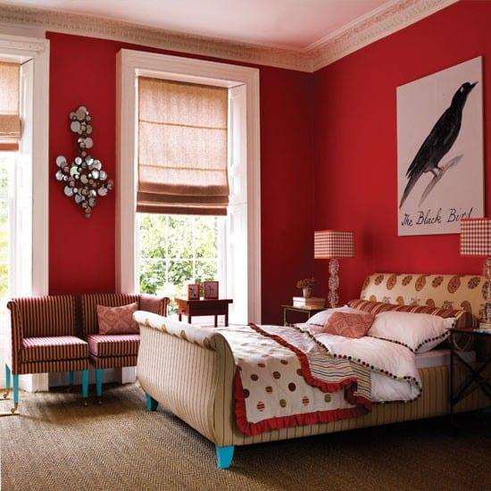 schlafzimmer rot schlafzimmer inspiration   fresHouse
