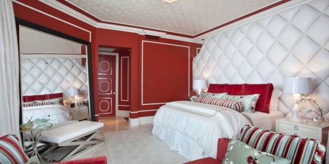 schlafzimmer rot spiegel im schlafzimmer   fresHouse