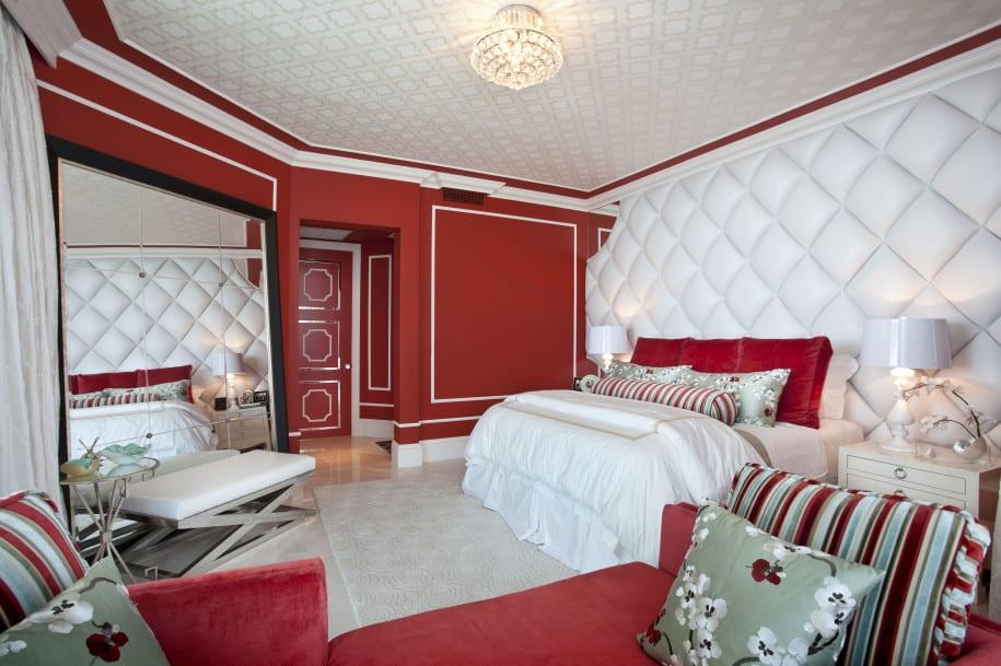 schlafzimmer rot-spiegel im schlafzimmer - fresHouse